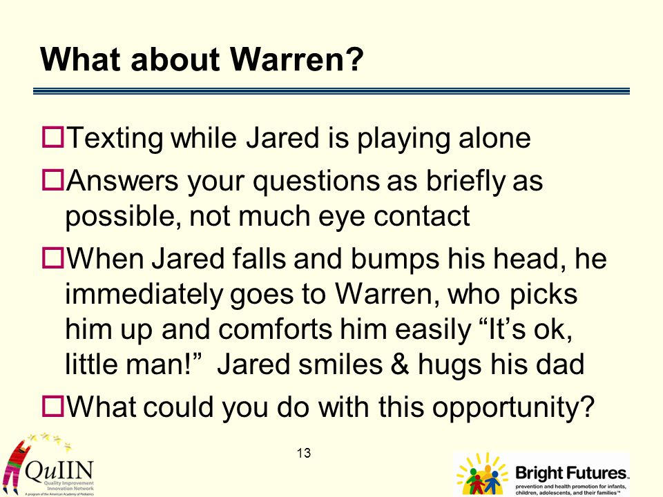13 What about Warren.