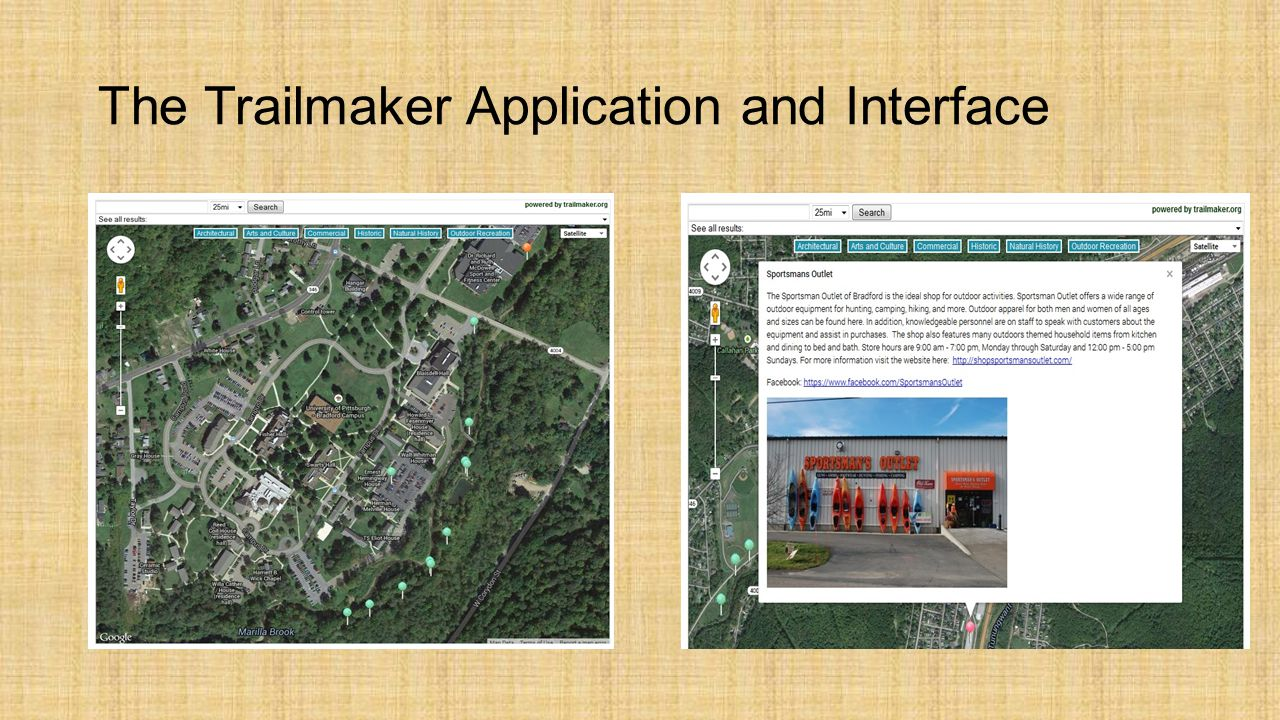 The Trailmaker Application and Interface
