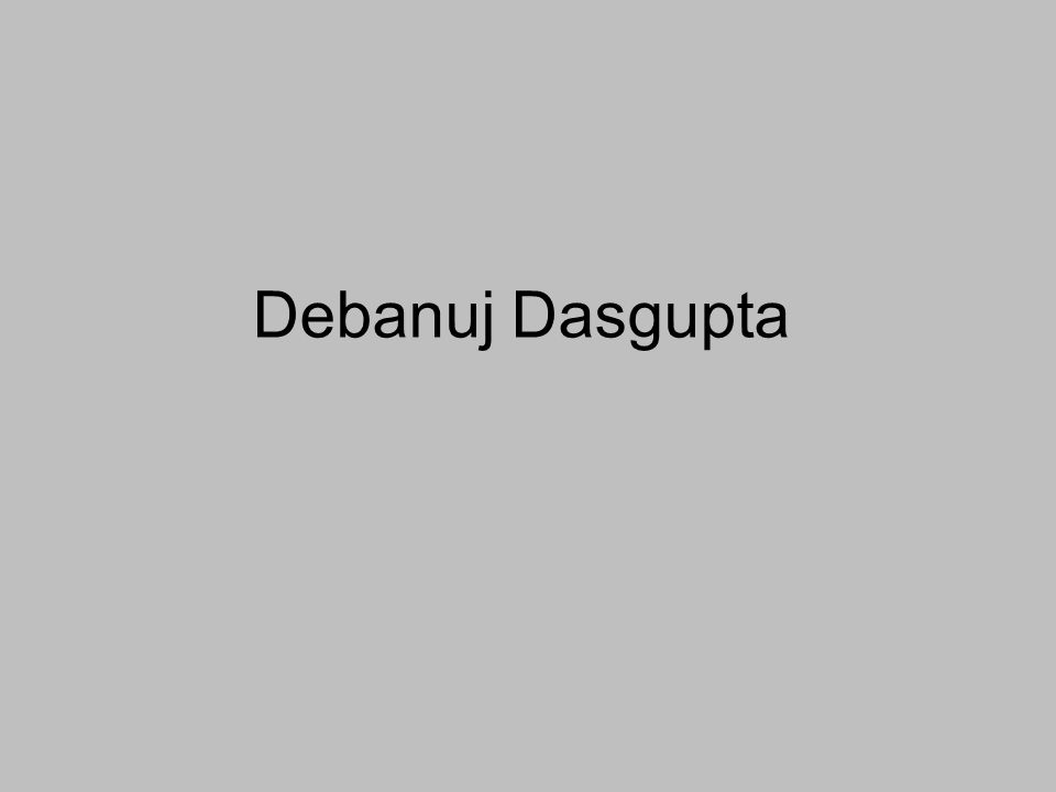 Debanuj Dasgupta