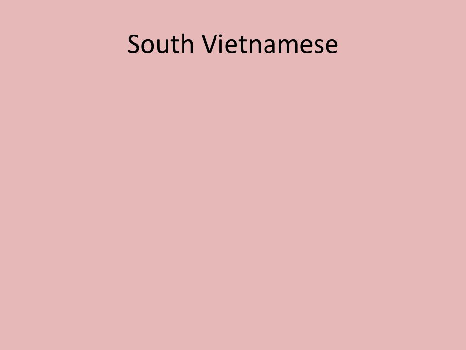 South Vietnamese