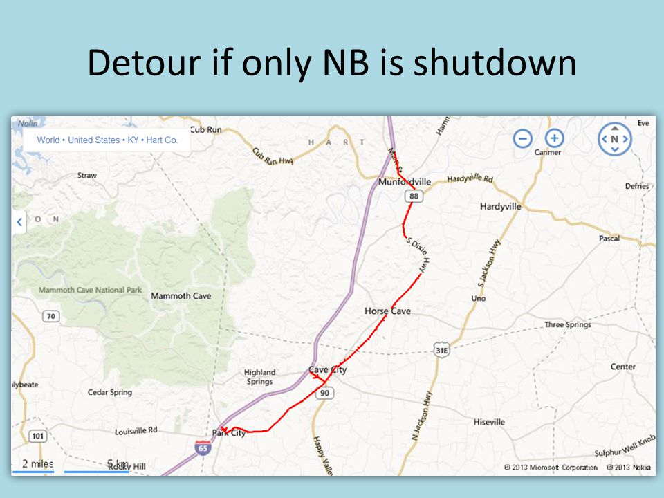 Detour if only NB is shutdown