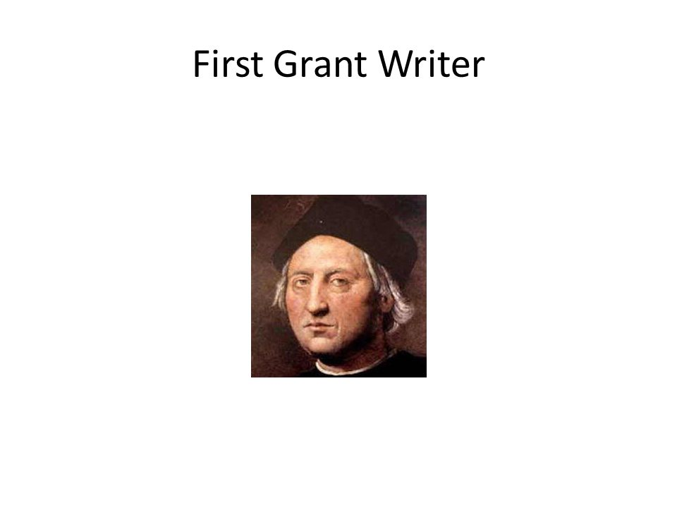First Grant Writer