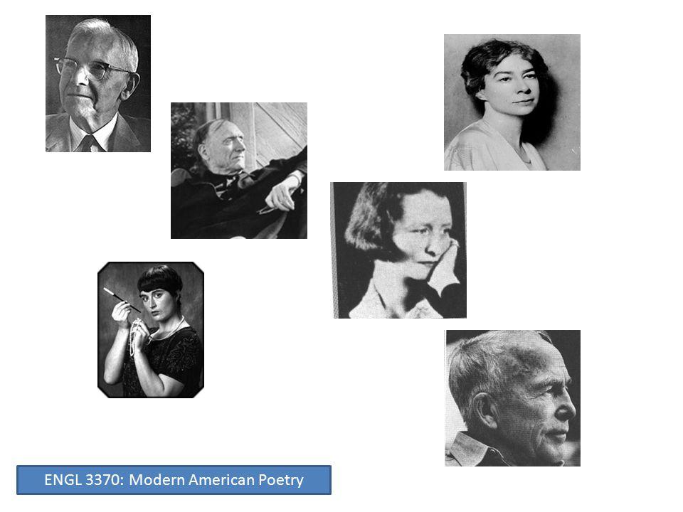 Robert Penn Warren David Milch (Hill Street Blues, NYPD Blue, Deadwood)— Warren's prize student ENGL 3370: Modern American Poetry