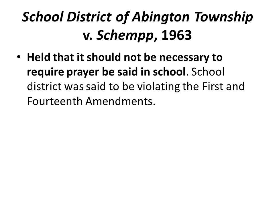 School District of Abington Township v.