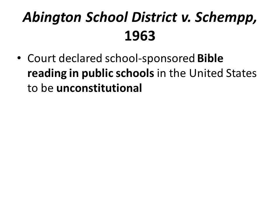 Abington School District v.