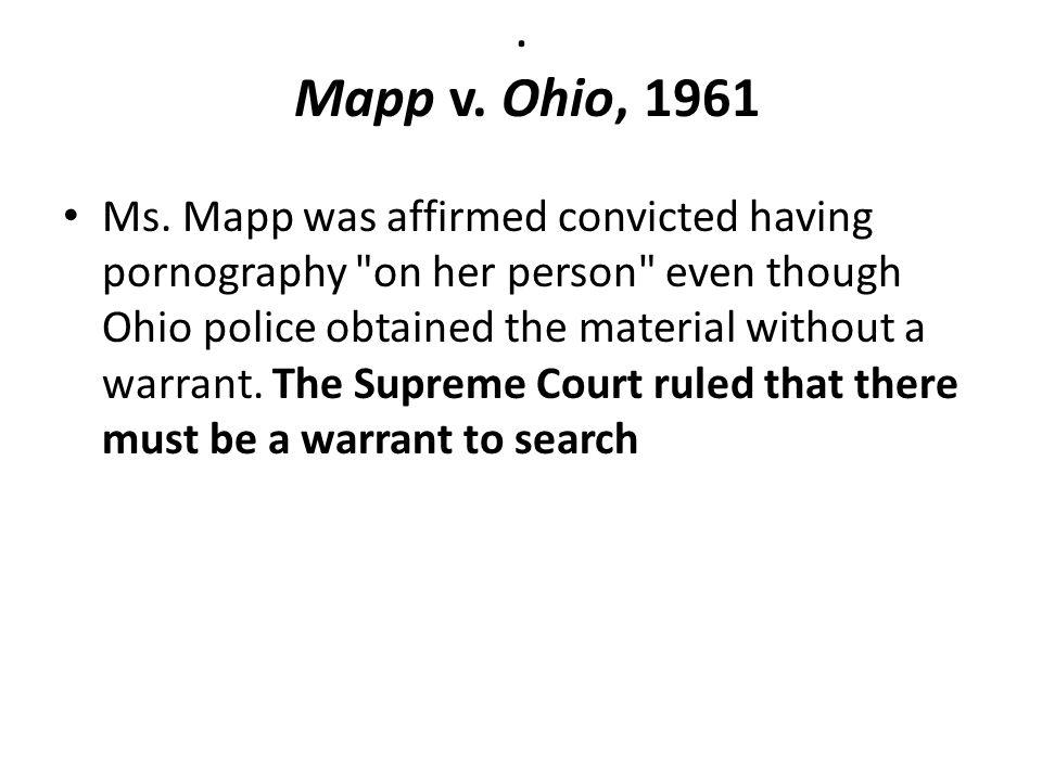 Mapp v.Ohio, 1961 Ms.