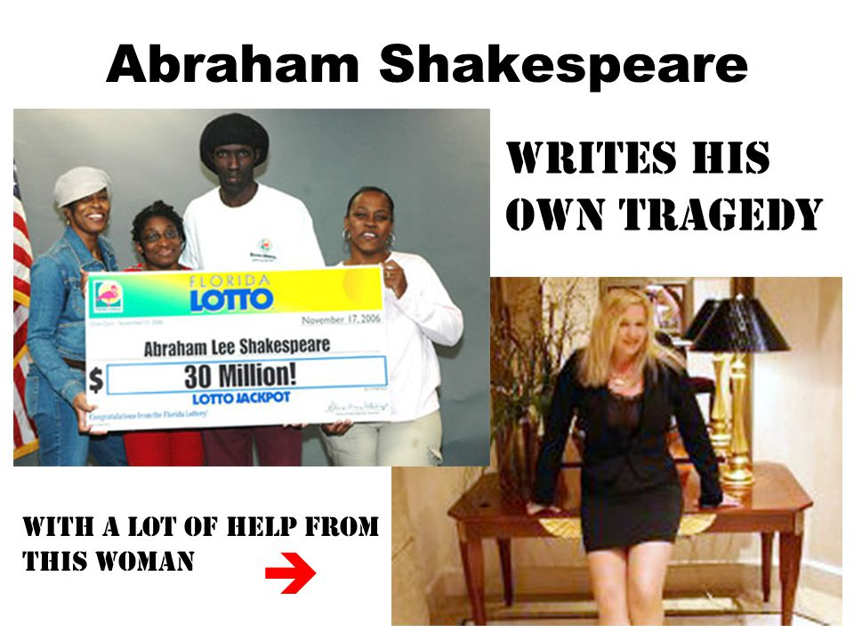 Abraham Shakespeare Writes his own tragedy With a lot of help from This woman 