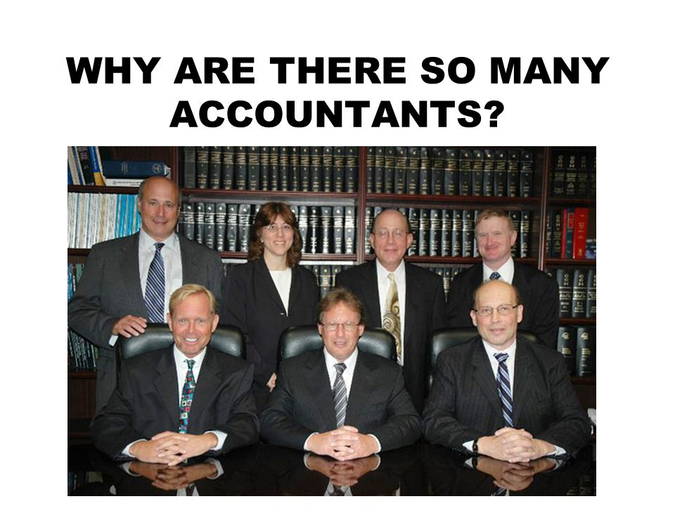 WHY ARE THERE SO MANY ACCOUNTANTS?