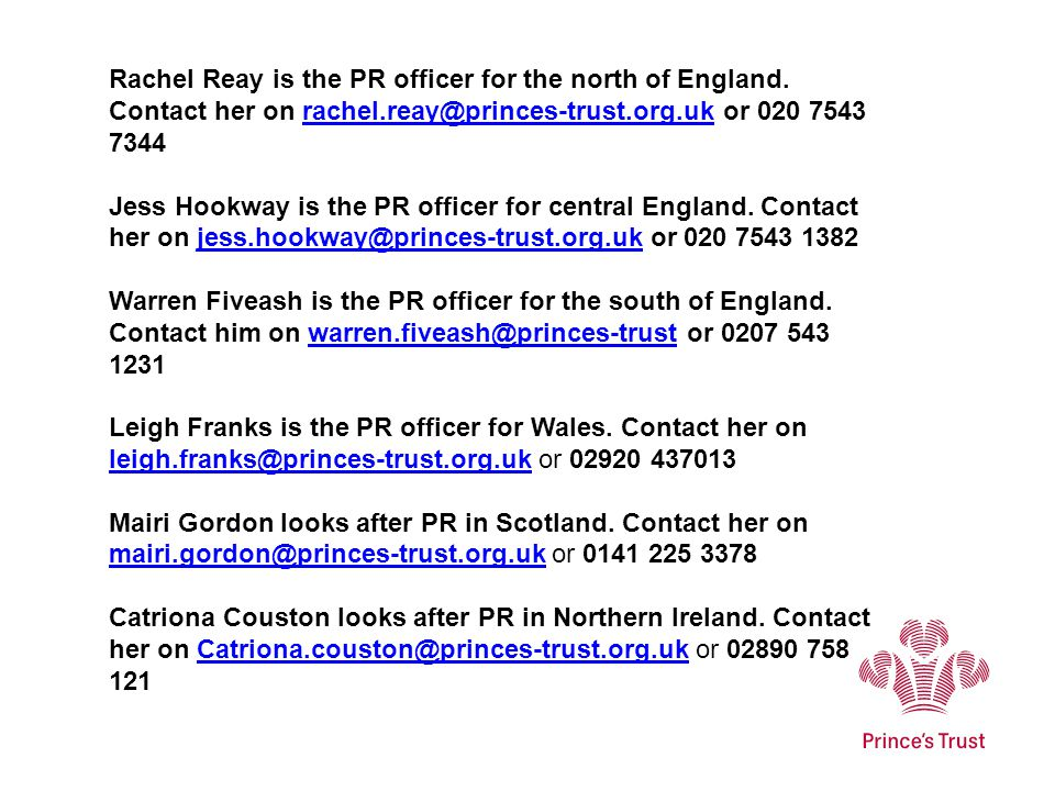 Rachel Reay is the PR officer for the north of England.