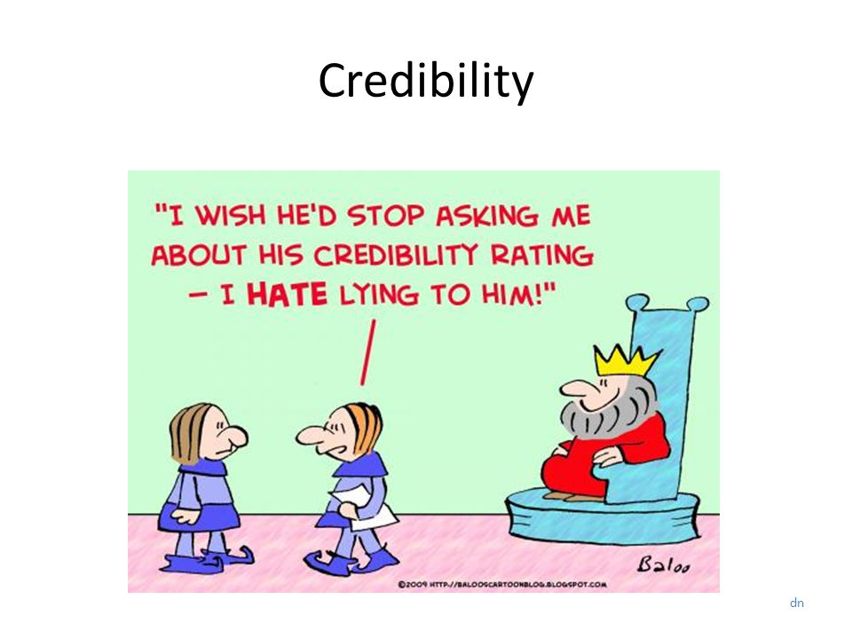 Credibility dn