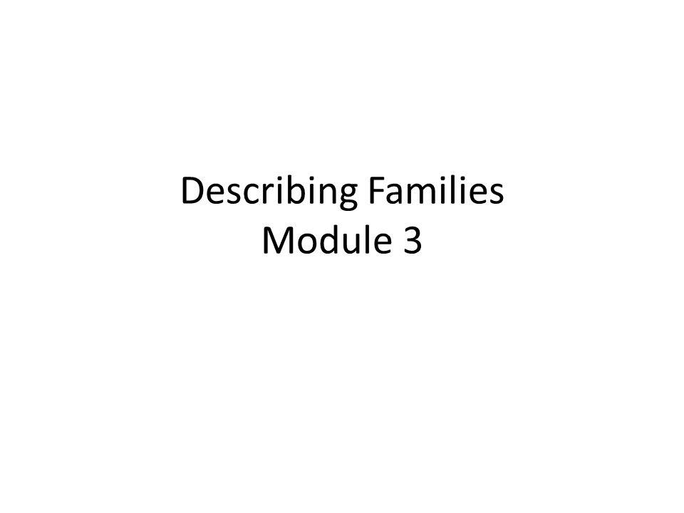 Describing Families Module 3