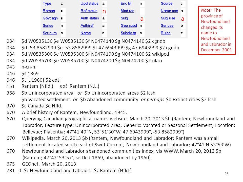 034 043 046 151 368 370 670 A brief history of Rantem, Newfoundland, 1945.