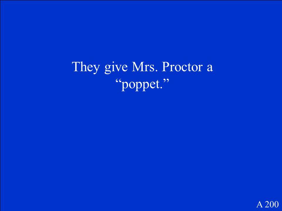 Who is Elizabeth Proctor A 100