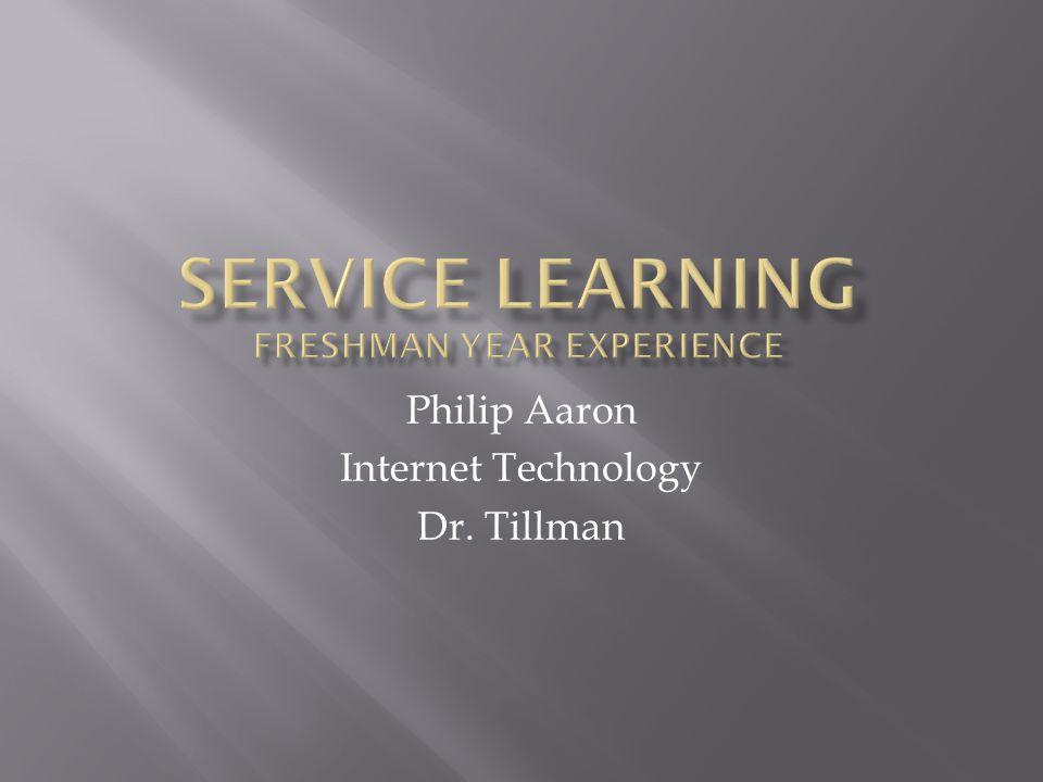 Philip Aaron Internet Technology Dr. Tillman