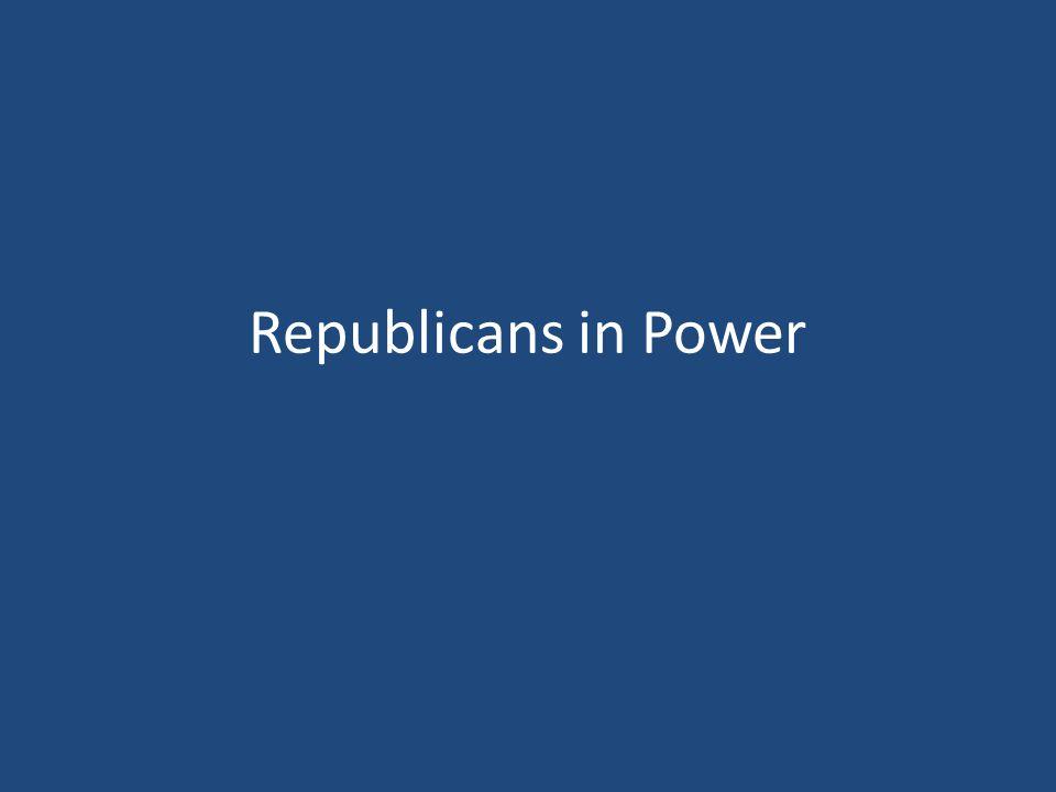 Republicans in Power