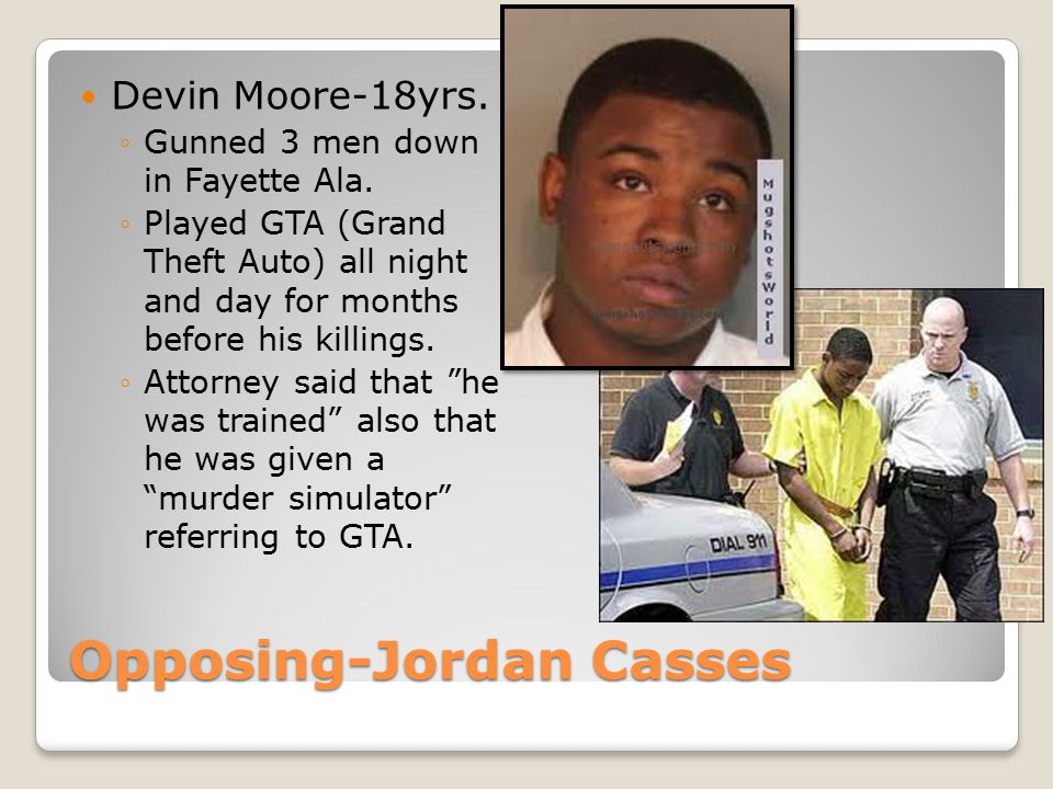 Opposing-Jordan Casses Devin Moore-18yrs. ◦Gunned 3 men down in Fayette Ala.