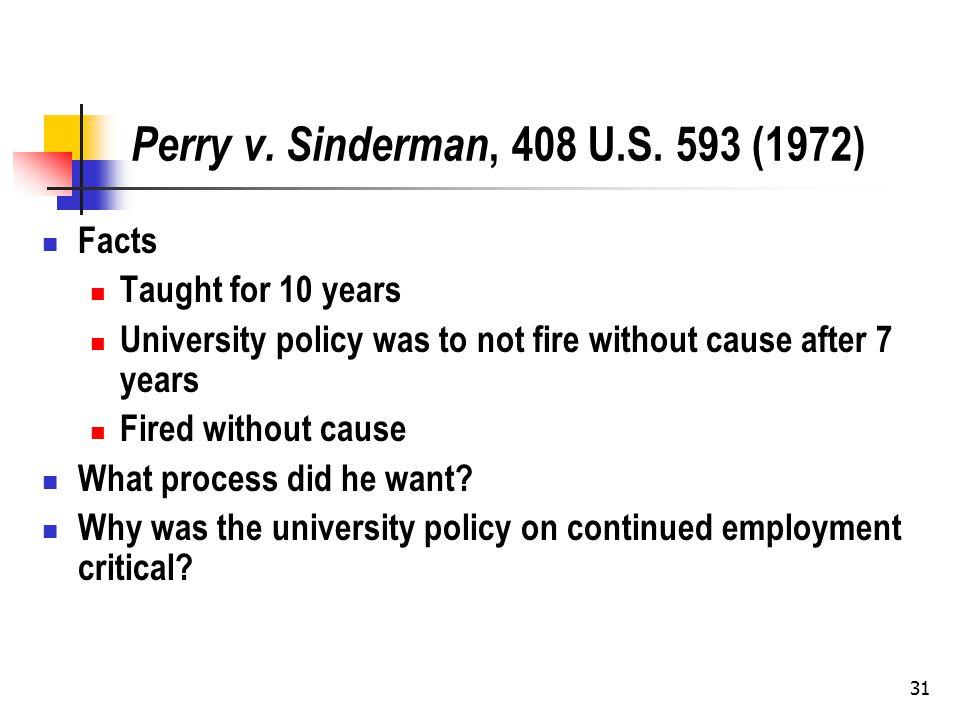 31 Perry v. Sinderman, 408 U.S.