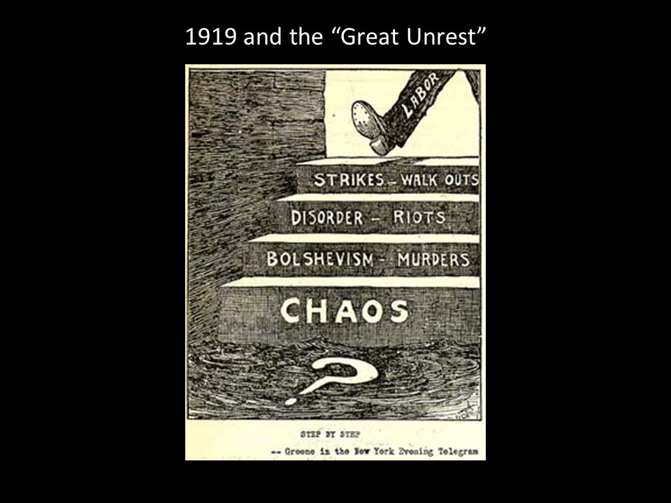 1919 and the Great Unrest