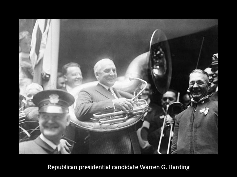 Republican presidential candidate Warren G. Harding