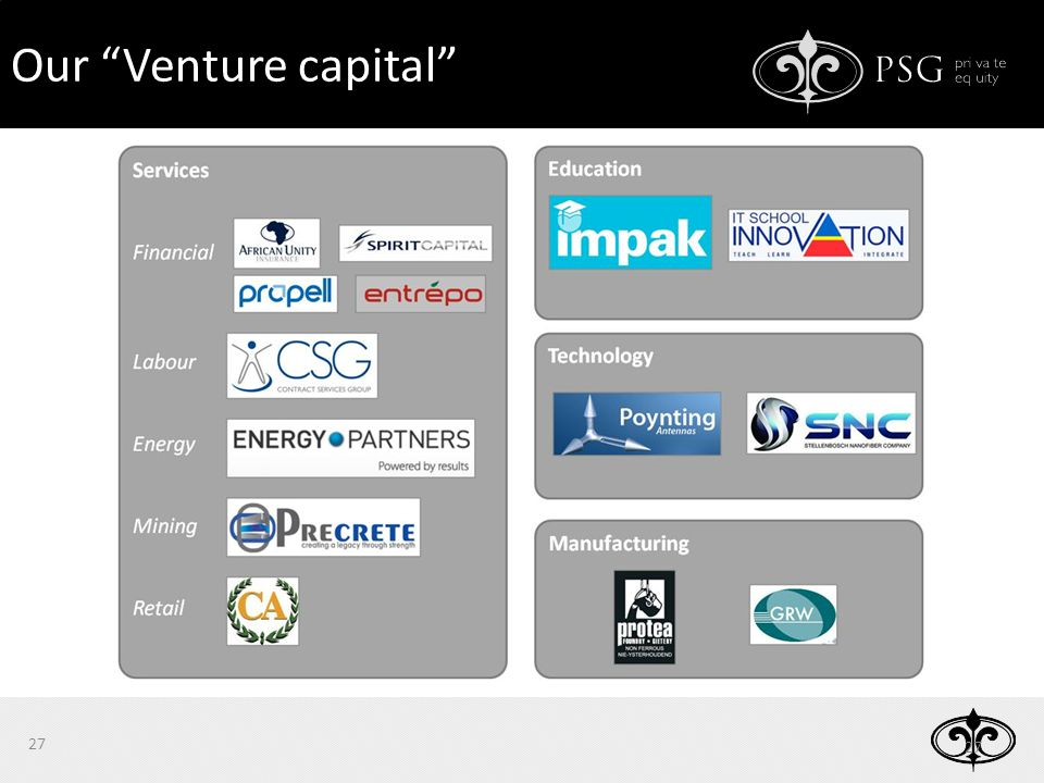"27 Our ""Venture capital"""