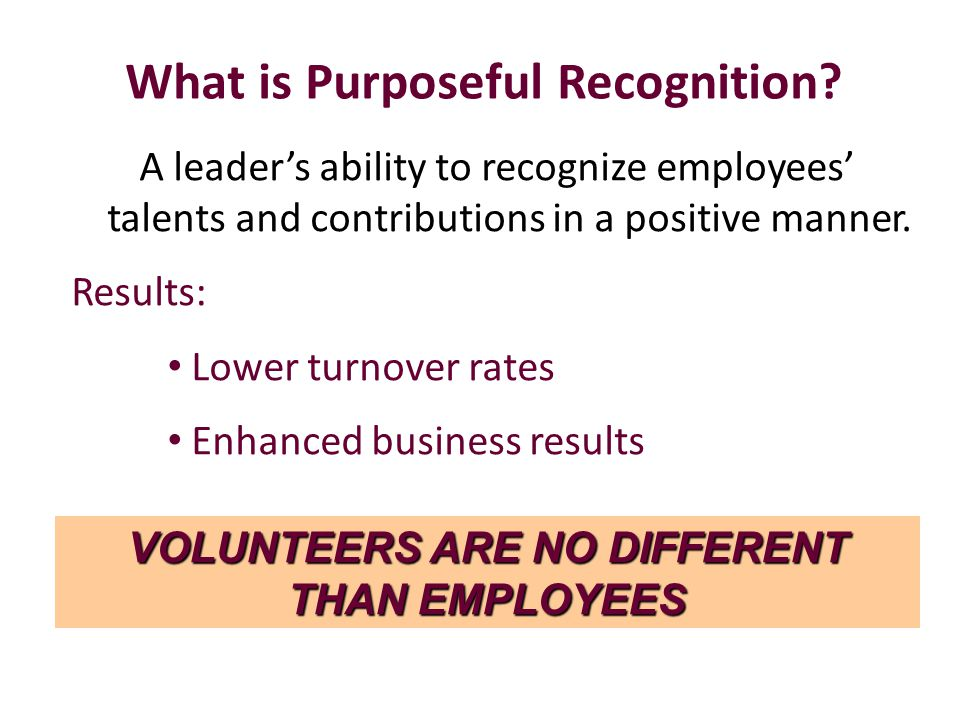 What is Purposeful Recognition.