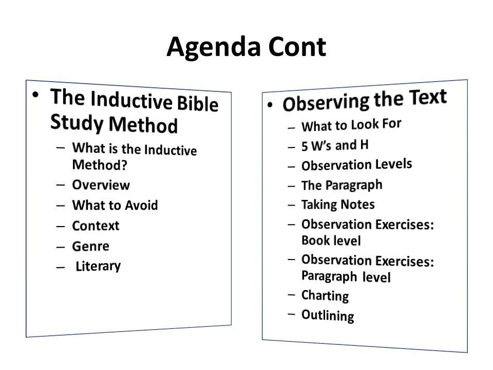 Agenda Cont