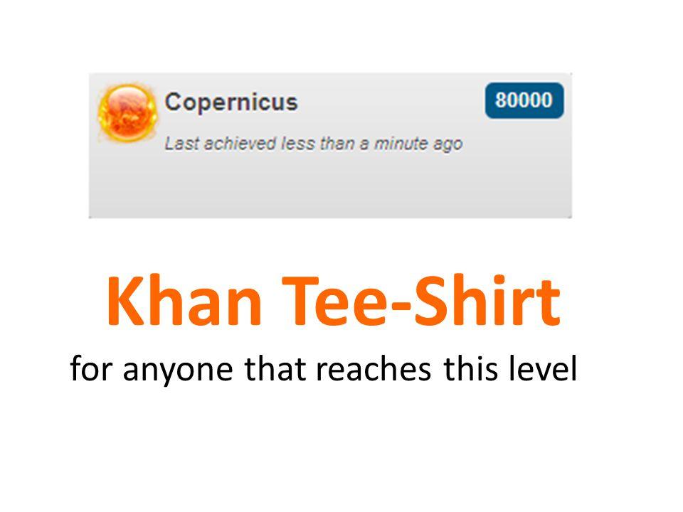 Khan Tee-Shirt for anyone that reaches this level