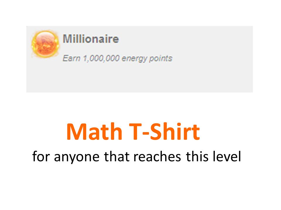 Math T-Shirt for anyone that reaches this level