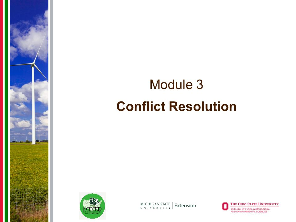Module 3 Conflict Resolution