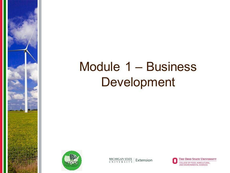 Module 1 – Business Development