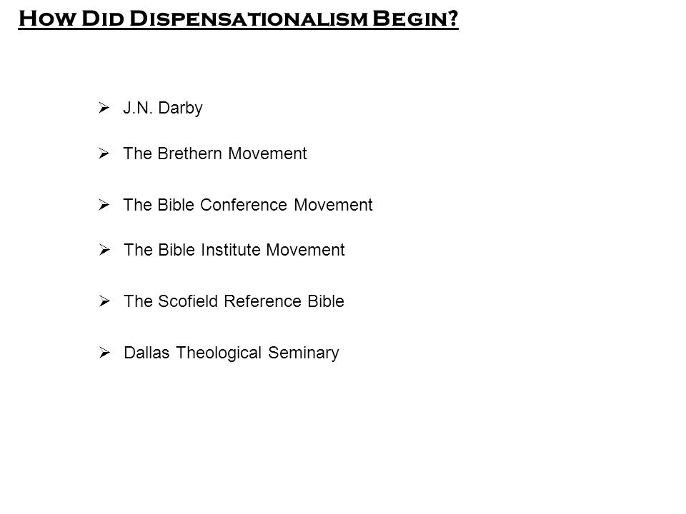 How Did Dispensationalism Begin.  J.N.