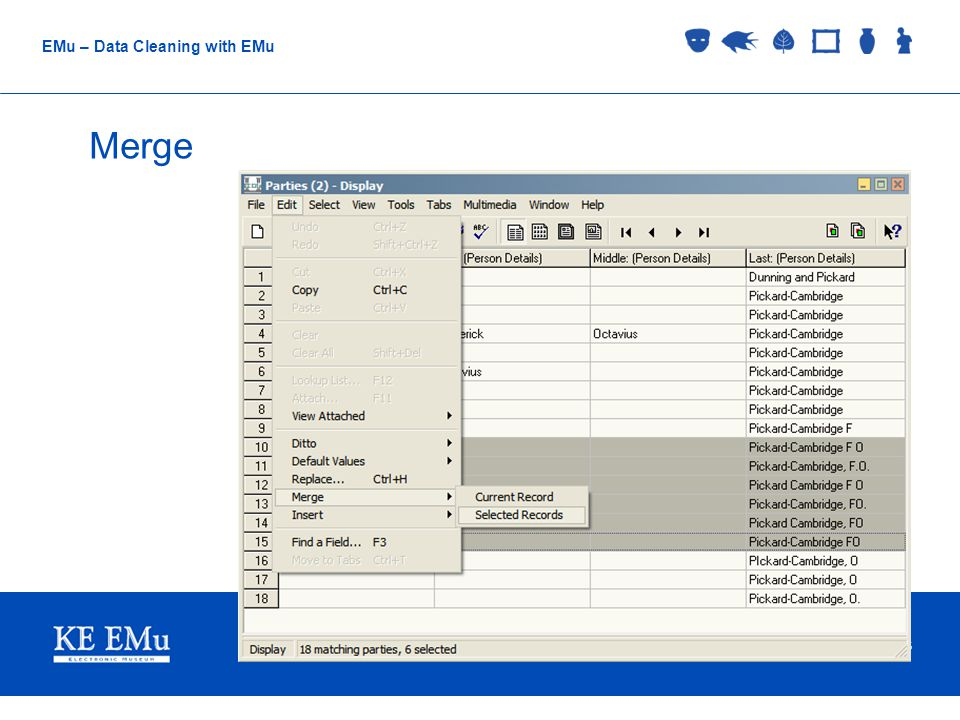 Collections Management Museums EMu – Data Cleaning with EMu Regular Expressions ^ = Start of the line $ = End of the line