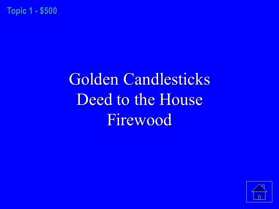 Topic 1 - $400 Salem, 1692