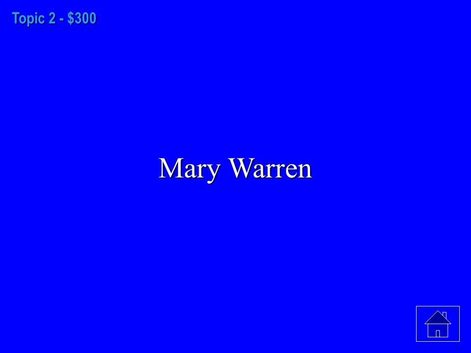 Topic 2 - $200 Giles