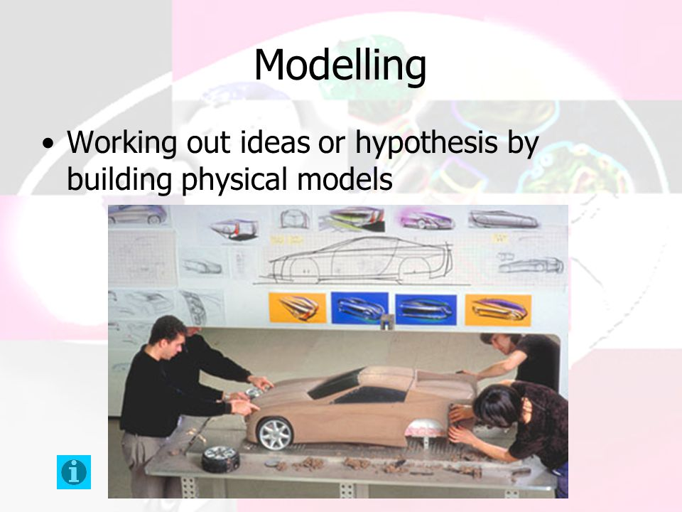 Modelling Working out ideas or hypothesis by building physical models