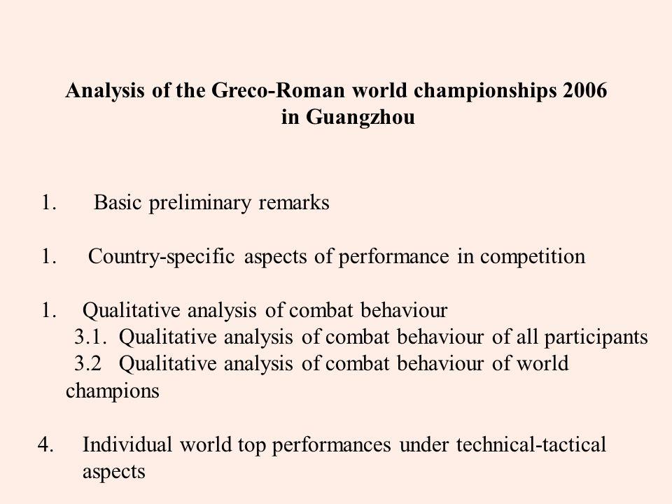 4.Individual world top performances under technical-tactical aspects Best techniques 5 points NOR - VEN