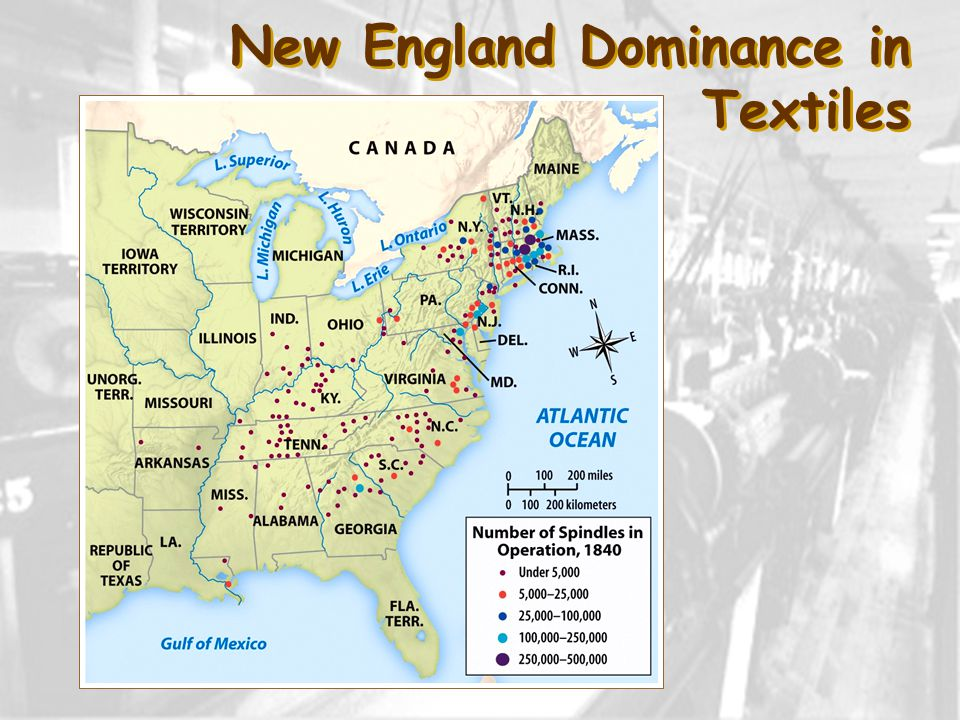 New England Dominance in Textiles