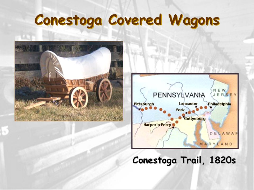 Conestoga Covered Wagons Conestoga Trail, 1820s