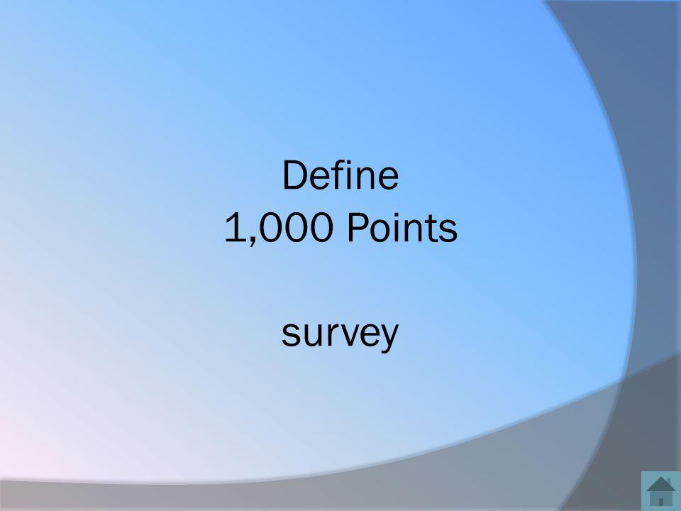 Define 1,000 Points survey