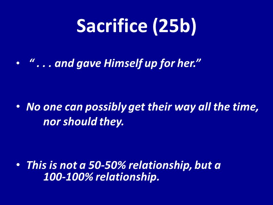 Sacrifice (25b) ...