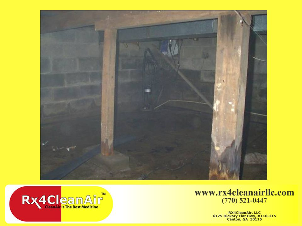 Before & After Pictures of Crawlspace repair/sealing