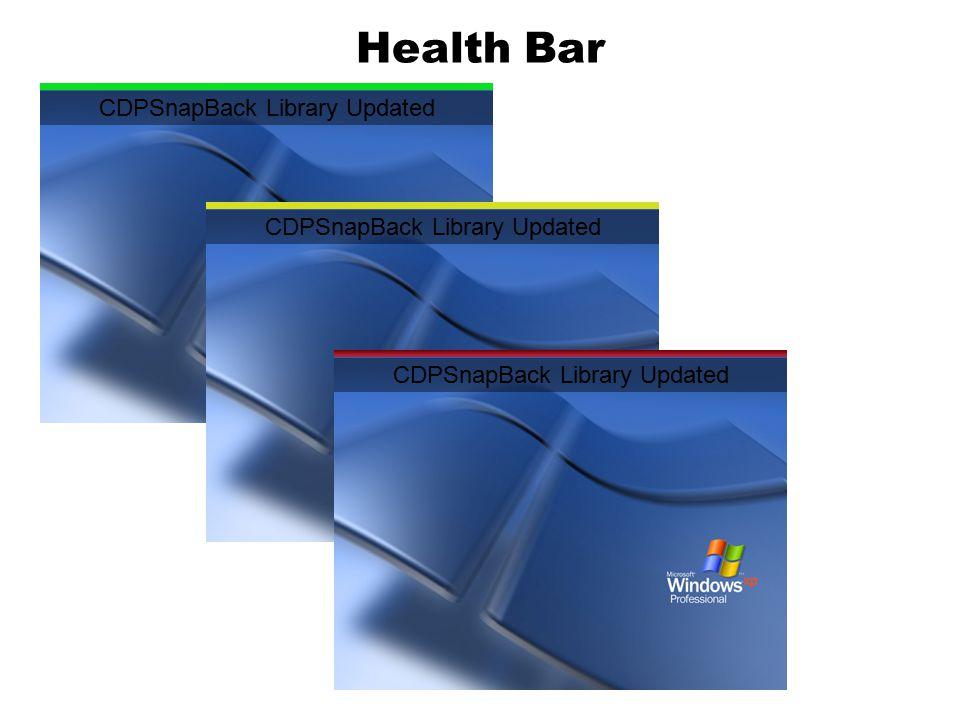 Health Bar CDPSnapBack Library Updated