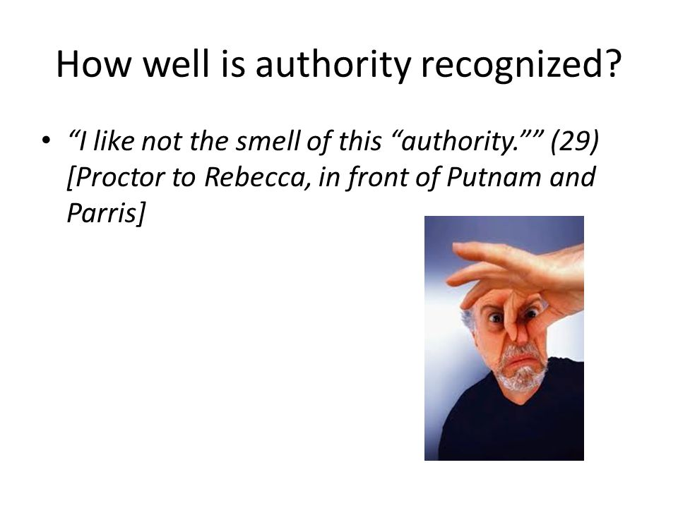 How well is authority recognized.
