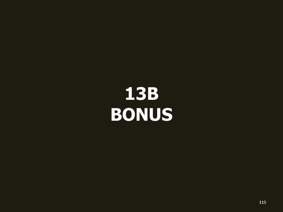 13B BONUS 115
