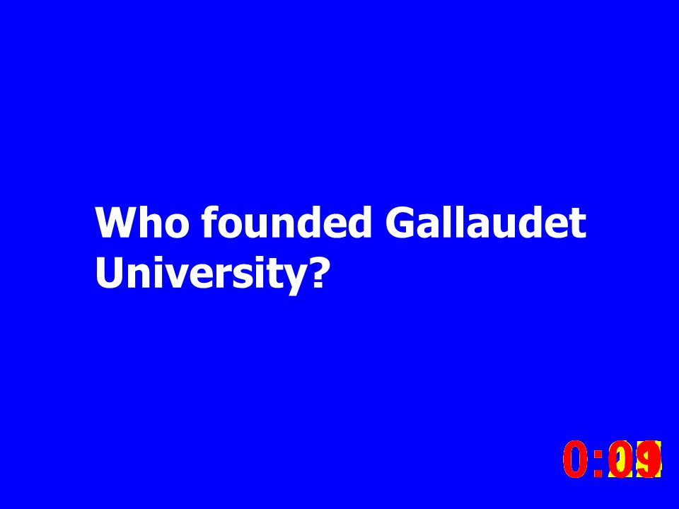 Who founded Gallaudet University.