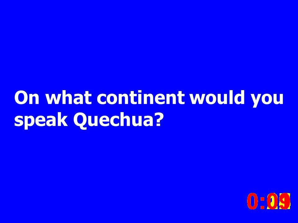 On what continent would you speak Quechua.