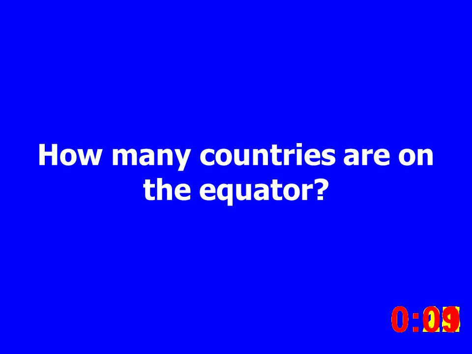 How many countries are on the equator.
