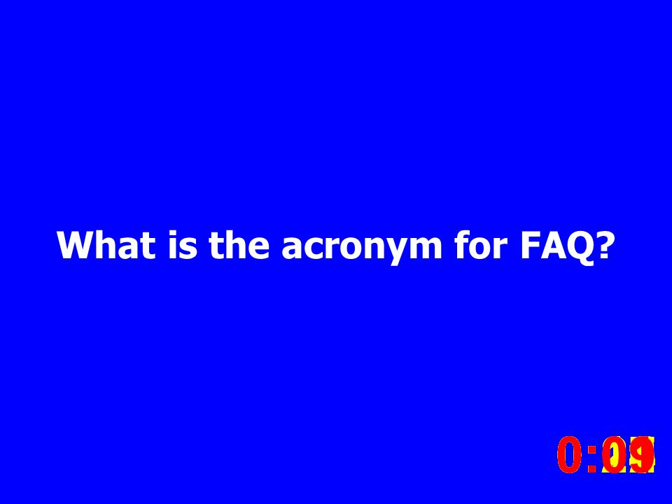 What is the acronym for FAQ.
