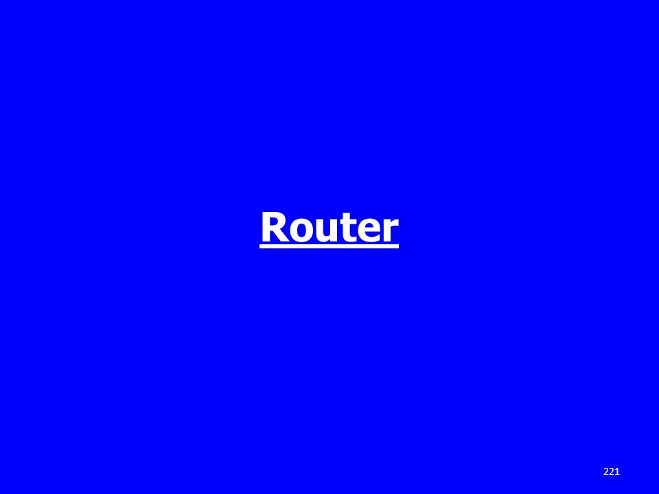 Router 221