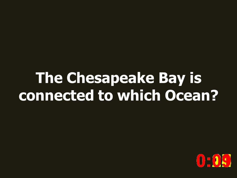 The Chesapeake Bay is connected to which Ocean.